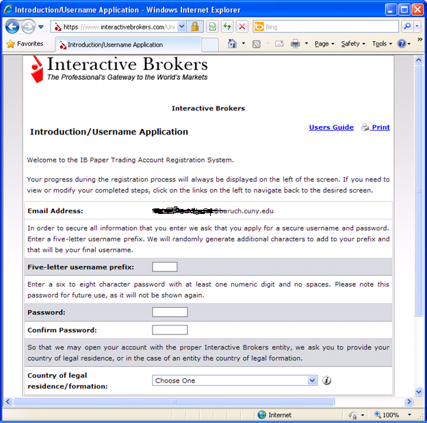 Setting up a Student Paper Trading Account for Interactive