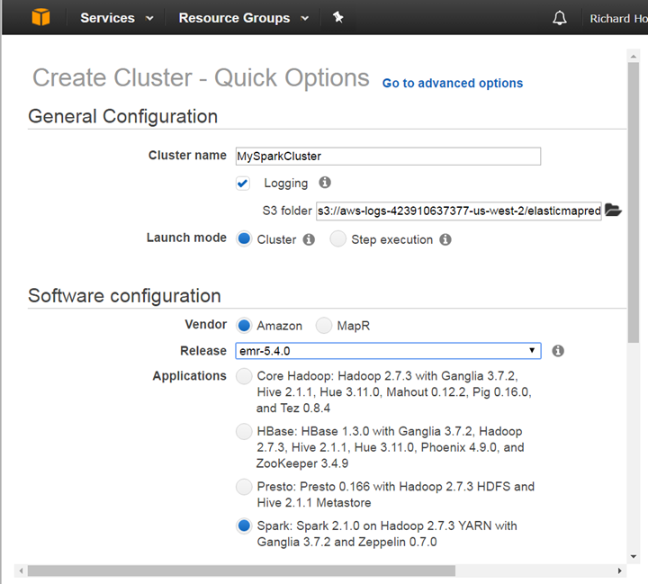 Getting Started with Apache Spark on Amazon Web Services EMR