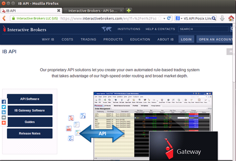 Installing Interactive Brokers IB Gateway and TWS API for
