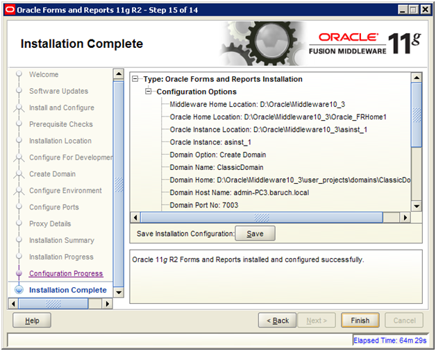 iTec: INSTALLING ORACLE FORMS AND REPORTS 11G RELEASE 2