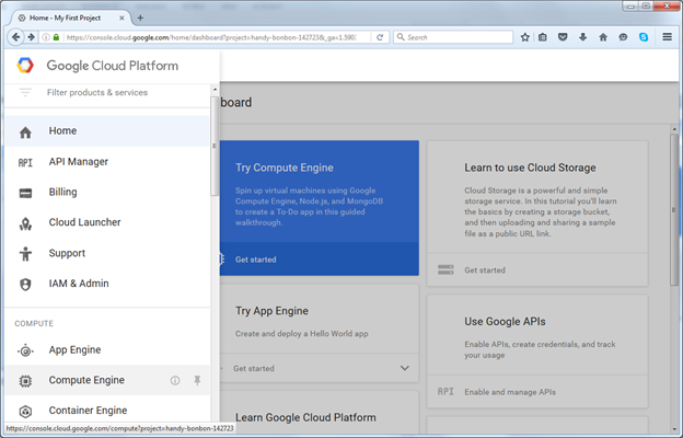 Getting Started with Google Cloud Services – Creating a