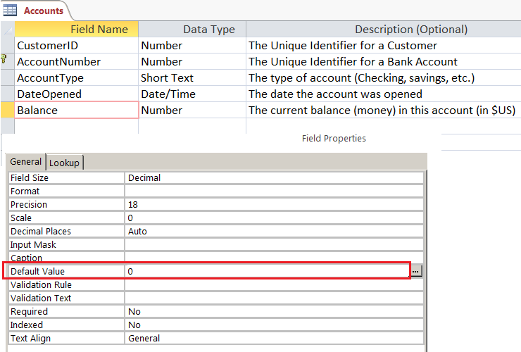 ms access 2010 database examples