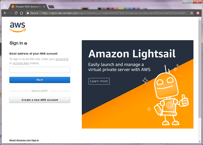 Creating an Amazon Web Services Account for student use with AWS
