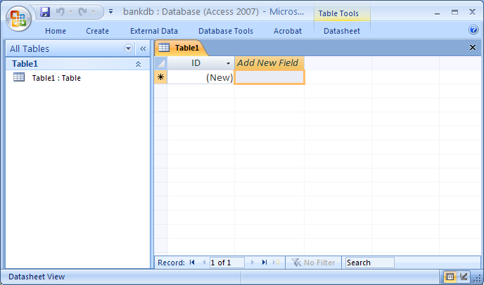 the screen layout for ms access 2007 is significantly different from past versions most of the tabs along the top of the screen have been rearranged