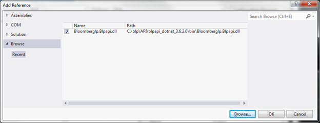 Programming the Bloomberg Open API using C++/CLI WinForms