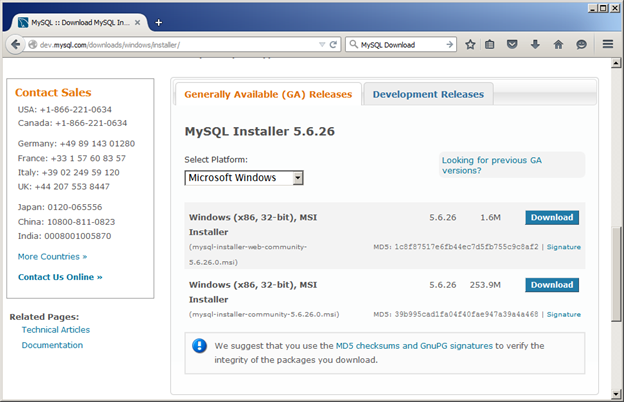 Installing and Working with MySQL 5 on Windows 7 – Page 2