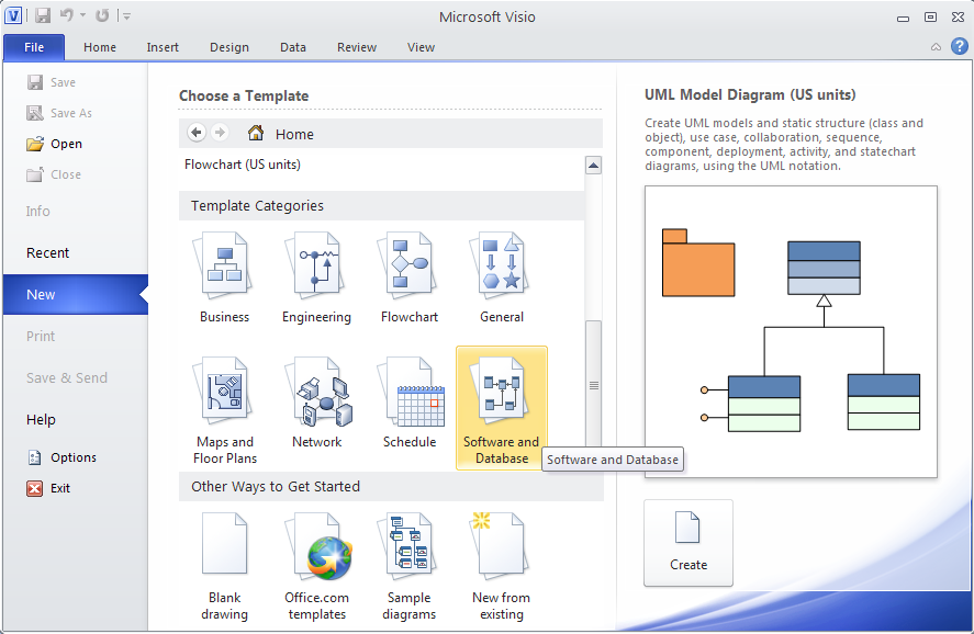 Drawing ER Diagrams with UML Notation using Microsoft Visio