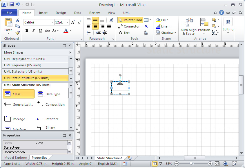 Drawing e r diagrams with uml notation using microsoft visio new class on visio 2010 diagram ccuart Image collections