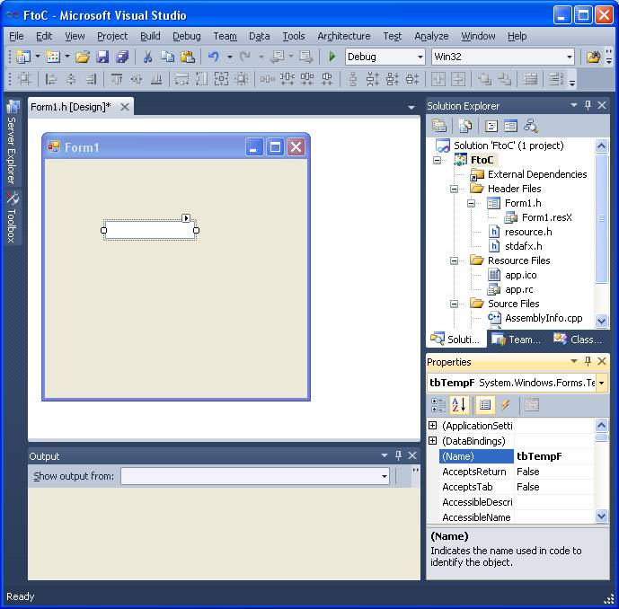 Getting Started with Windows Forms using Visual C++ Tutorial