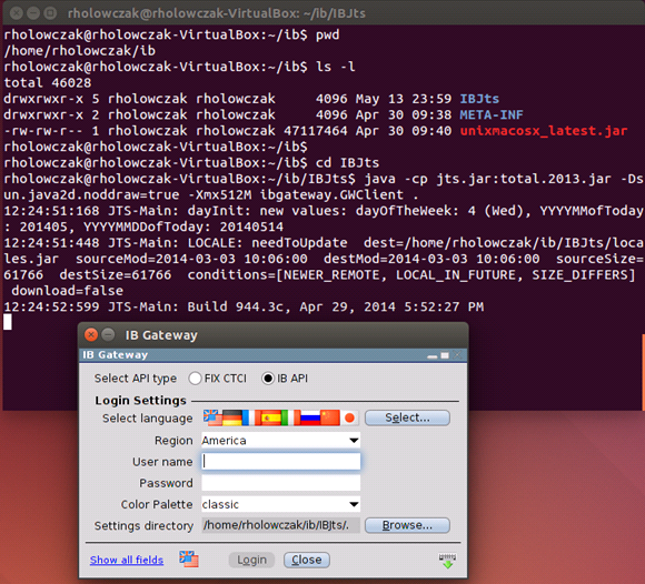 Installing Interactive Brokers IB Gateway and TWS API for Linux