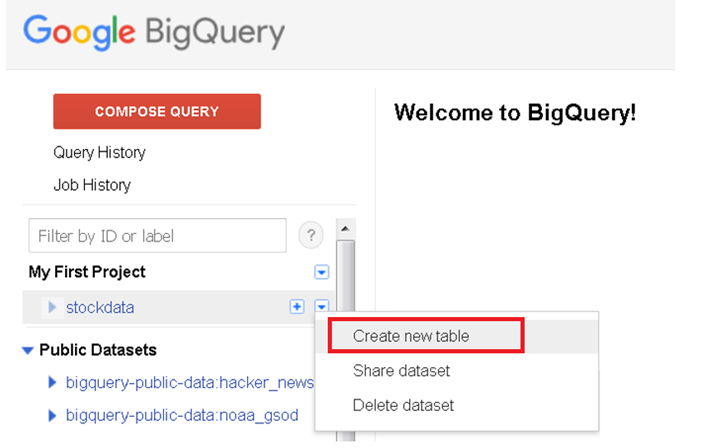 Getting Started with Google BigQuery on Google Cloud Services