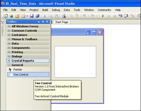 Programming Interactive Brokers ActiveX API using Visual Basic and