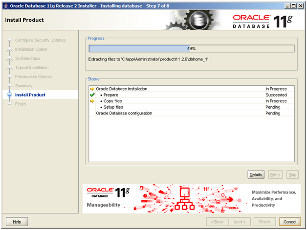Installing Oracle 11g Release 2 Enterprise Edition on Windows 7 32
