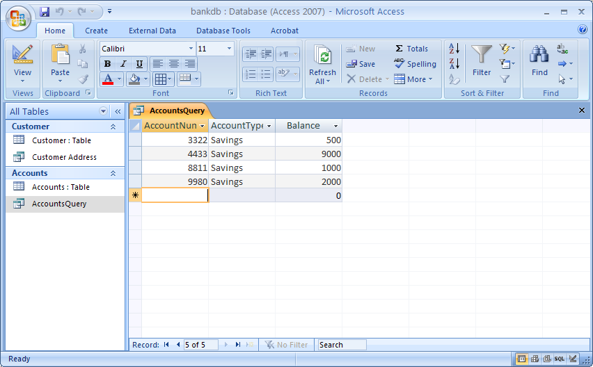 ms access 2007 sample database