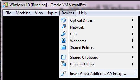 virtualbox guest additions windows 10 install